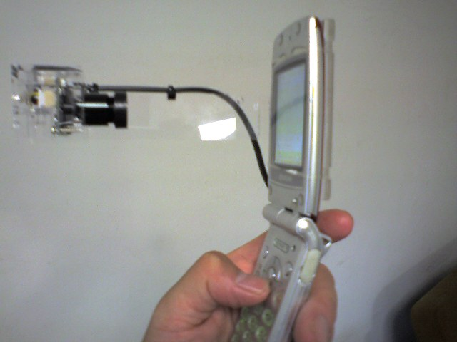 携帯電話テレビ会議システム